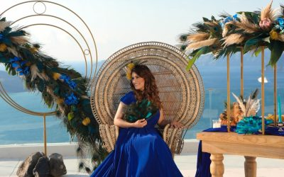 An Exotic & Bold Wedding Style Shoot In Santorini